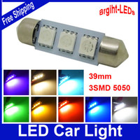 Wholesale mm SMD w DC12V LED Car Dome Festoon Interior Light Bulbs Auto Car Festoon LED Roof Car Light