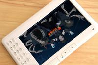 Wholesale HD inch Anti glare colored E book E reader P video player MP3 MP4 Built in GB