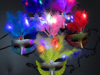 Wholesale hot selling LED light Half Faces Mask Mardi Gras Masquerade Halloween Costume Party MASKS