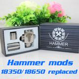 900mAh   Hammer Mods full mechanical mod with 2 extension tubes 18350mAh 18500mAh 18650mAh vapor gift box kit e cigarette Nemesis Ikarus mod DHL free