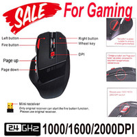Wholesale 2 G GHz Optical Gaming Game Wireless Mouse DPI for Computer amp Laptop Accessories Peripherals with USB Receiver