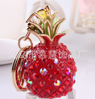 Wholesale 2014 newest alloy pineapple fruit shape keychain children the best Christmas gift many colors