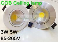 Wholesale Fedex Free W W COB LED Ceiling Recessed Down Light Lamp Bedroom LED Lamp V with Driver lm