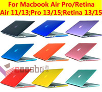 Wholesale thin protective Smart Translucent crystal Hard Shell Satin Case Cover for quot quot quot inch macbook Mac Air pro retina