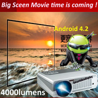 LCD 3d projector - Brightest lumens Build in Android Wifi Projector Full HD Android LED Daytime Projector Digital D Video Smart Projector