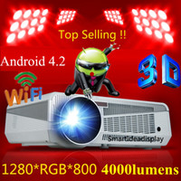 Wholesale Updated Wifi Android Projector LED Portable Full HD D TV home cinema Projector P Digital Video smart Proyector