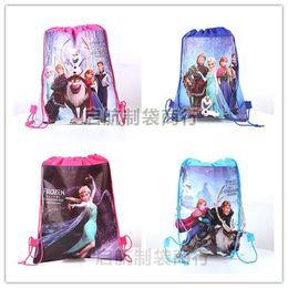 Wholesale 2014 new frozen drawstring bags frozen Anna Elsa sofia the first backpacks kids handbags children s school bags all design mixed hot sale