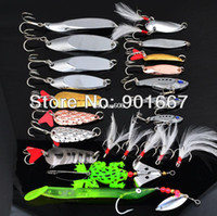 Wholesale Hot Fishing Lure Mixed color Size Weight Hook Diving depth Metal Spoon Lures fishing tackle Free Ship