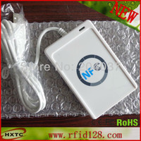 Wholesale PC linked Contactless Smart NFC Tag Card Reader and Writer MHZ RF ACR122U Support all four types of NFC tags