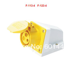 Wholesale Electrical Electrical industrial plug socket connector Mounted socket F