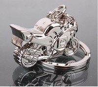 Wholesale HOT Motorcycle Key Ring Chain Motor Silver Keychain New Fashion Cute Lover Gift