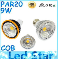 Wholesale CE ROHS FCC CUL PAR20 Led Bulbs Light x9W COB E27 E26 GU10 Dimmable Led Spotlights Lamp Angle Cool Warm White V Brand New