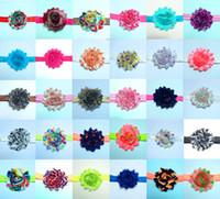 Headbands Chiffon Cloth  Floral NEW 60 Color BABY Girls Rags Rose Flower Headband Chiffon Handmade Flower Hair Hoop Princess Hair Accessories Mixed Order Drop shipping