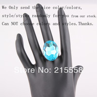 Cheap Faceted CZ Diamond Crystal Ring Shiny SWA Element Crystal Women Rings Decoration Jewelry Valentine Gift ZR12