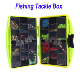 Wholesale Water resistant Compartments Plastic Fishing Tackle Box Boxes Full Loaded Hook Spoon Lure Sinker H10089