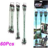 Spinner fishing fishing leader - 60Pcs Outdoors Fishing Lure Trace Wire Leader Swivel Tackle Steel Lures Spinner cm cm cm DHL H10367
