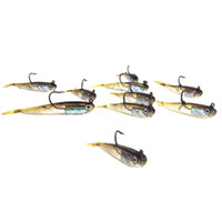 Wholesale New mm g Pesca Soft Bait Fishing Lure Lead Jig Head Fish Lures Tackle Sharp Hook H10522