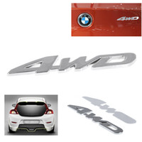 Wholesale 4WD Displacement Car Chromed Emblem Badge D Car Sticker Logo
