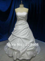Other Model Pictures Sweetheart Free shipping Real Sample White Ruffle Ball Gown New Model Plus Size Wedding gown Bridal Dress 2013