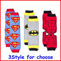 Wholesale New hot sale Baby Superman Batman Spiderman Super Hero Leg Warmers Infant Chevron legwarmers baby Leggings Socks pc pairs melee