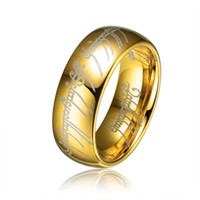 Wholesale Wholesales The Lord of the Rings MM Men Jewelry With K Gold Plated All New Sizes Tungsten Carbide Ring TU006R