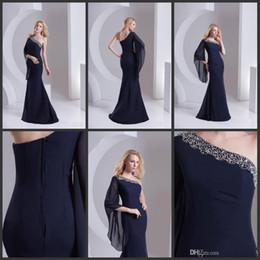 new design summer free shipping One-Shoulder Sleeveless Sheath  Clolumn Sweep Train Applique Sequins Zipper Mother of the Bride Dresses