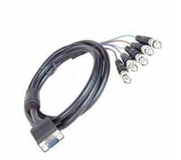 Bnc vidéo vga Prix-150cm / 59.1quot; 15 broches VGA mâle à 5 * BNC Mâle Audio / Vidéo Câble Blindage Design For CCTV Accessoires