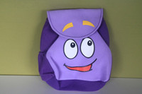 game dora - dora Backpack Mr Face Plush Backpack Shool Bag Purple Toddler Size