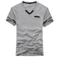 Men Cotton Polo 2014 New novelty men polo shirt Fashion color matching tee V-neck Summer fashion color black&gray size M-XXL MTS105