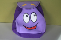 Unisex mr - Backpack Mr Face Plush Backpack Shool Bag Purple Toddler Size New