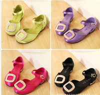 Plastic green synthetic - NEW kids sandals shoes girl children girls Drill silk princess party B14694