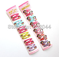 Wholesale Cartoon Character Dora Hair Clip Packet Pair