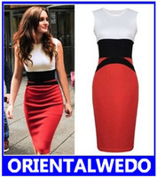 Wholesale Womens Celebrity Midi Bodycon Ladies Red Pencil Evening Slimming Panel Tea Dress new gift scarves
