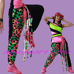 Wholesale Fashion Women s Fluorescence Tassel Hip Hop Belly Dance Harem Pants Sweatpants Girls Streetwear Baggy Wear Ladies Cheap Trousers clothing