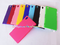 For Sony Ericsson cover For Sony Xperia Z2 - For Sony Xperia Z4 Z1 Compact Z2 Z2A Z3 mini T2 M2 Rubberized rubber skin Hard plastic back Phone cover case cases
