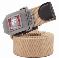 Wholesale men s cargo belt fabric metal button head portrait Y26
