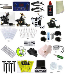 Wholesale GRINDER Tattoo Kit by black time Tattoo Tattoo Machine Guns Power Supplies INK LCD Power Supply