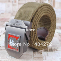 Belts belt buckles khaki - Stylish Canvas Belt with D Che Guevara Logo Buckle Black Green Khaki colors