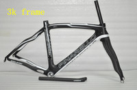 Wholesale 3k Wave Carbon Frame set Pinarello Road Racing Bicycle Frames Two Years Warranty Matt Clear Decals Pro Cycling Team Carbon Bike Parts