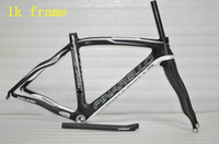 Wholesale Pinarello Carbon Bicycle Frames k Clear Matt Bike Frames set Black and White Decals Accept DIY Decals Size Road Bike Frames set