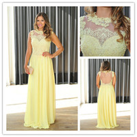 2014 Glamorous Sheath Column Evening Dresses High Neck Floor...
