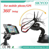For Apple iPhone   Car Windshield Stand Mount Holder Bracket for Iphone 4 5 5s 5g mobile phone GPS MP4 Rotating 360 Degree