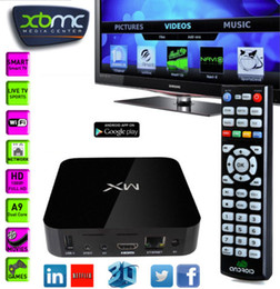 Wholesale G Box MX2 IPTV TV BOX XBMC Fully Loaded GBox MX Media Player Google Play App Store Games Movies Sports Programes Channels AV Free download