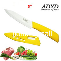 Wholesale ADYD quot Ceramic Knives Eco friendly health Zirconia kitchen Fruits Ceramic Knives for Modern Kitchen Paring knife yellow