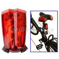 Wholesale 5 LED Muiltifunctional Rechargeable Bicycle Safety Taillight Caution Light with Laser Lane Wavelength nm
