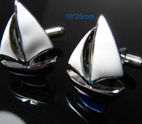 VENTA CALIENTE: los gemelos modelo de barco puño de la camisa de las mancuernas de los hombres de regalo 574 #