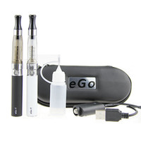 Electronic Cigarette Atomizer Core  Wholesale - CE4 eGo Starter Kit E-Cig Electronic Cigarette Zipper Case package Single Kit 650mah 900mah 1100mah Real Capacity DHL from Passt