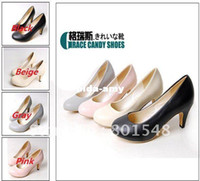 Wholesale Freeshipping lady fashion shoes elegant women s footwear OL fashion pumps heel shoes EUR size Four Colors LOW PRICE T0078