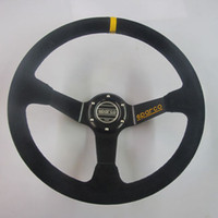 Wholesale Brand New Sparco Universal Car Steering wheel inch suede leather mm Black