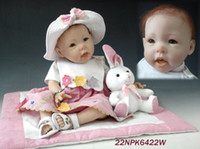 Unisex Birth-12 months Vinyl New Fashion Reborn Baby Dolls 55cm newborn Baby with hair Dolls Silicone Vinyl Soft Realistic And Lifelike Girl Baby Doll